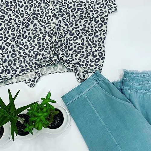 If you're a team blue fan, check out this cute combo: Off white leopard shirt with washed denim pants. We also have this leopard top in soft blue as well. This is a great loungewear combo for staying at home or going out! . . #fatebylfd #fate #chooseyourfate #offwhiteleopard #teamblue #leopard #washeddenim #pants #loungewear #loungewearoutfit #clothingbrand #clothingline  #instafashionista #instafashion #trendy #easytowear #lovethislook #styled #styledshoot #fashionista-