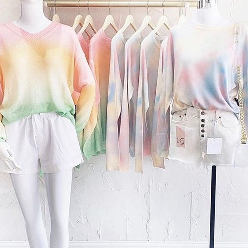 Doesn't this line make you crave candy! 🍭 . . Shout out to @ellegraynashville for showing off our line. These tie dye styles are in stock in Cotton Candy, Green multi, Blue multi and Lavender multi. . .  #fatebylfd #fate #fatestyle #chooseyourfate #tiedye #cottoncandy #clothingbrand #clothingline #lookoftheday #outfitoftheday #ootd #ootdfashion #instafashionista #instafashion #trendy #easytowear #lovethislook #styled #styledshoot #fashionista #styleoftheday #chic-