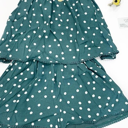 """Hey guess what? Today is #giveaway day! We are giving away the lovely Sage polka dot romper in size Small. Swipe ➡️ to view how the item is worn. . .Please follow the rules of the giveaway below:  1. Like this post 2. Follow us @fatebylfd (Don't follow to Unfollow as You will be Disqualified from Future Giveaways) 3. Mention/Tag at least (3) boutiques in the comment section and ask them to follow us. Tag as many boutiques as You can. Each tag will count as an entry😍 4. Share this post on your story and make sure to tag us! .  This giveaway is only for US residents!  We will announce the winner next Tuesday 06/09! """"May the odds be ever in your Favor."""" . #fatebylfd #fate #chooseyourfate #giveawaycontest #sage #polkadots #romper #polkadotromper-"""